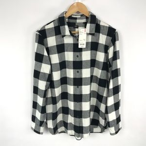 Uniqlo Womens Flannel Check Button Up Shirt 3340